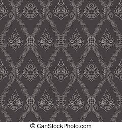 line thai - Seamless lined pattern thai art background...