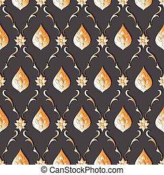 line thai - Seamless lined pattern thai art background...