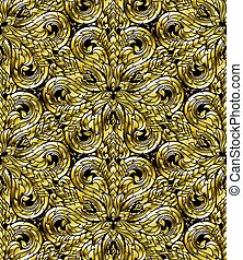 Line Thai seamless pattern