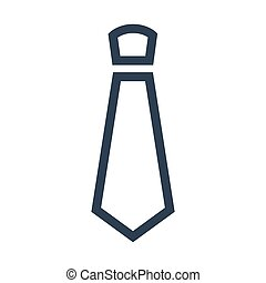 Line tie icon on white background.