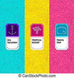 Line Travel Package Labels
