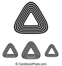 Line triangle logo design set