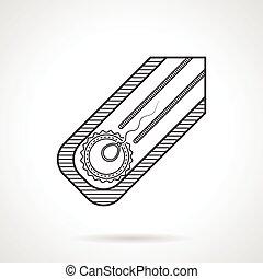 Line vector icon for fertilization