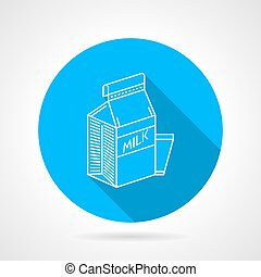 Line vector icon for milk pack
