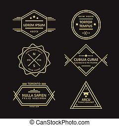 Line vintage retro badges & labels