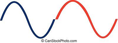 Line wave logo template