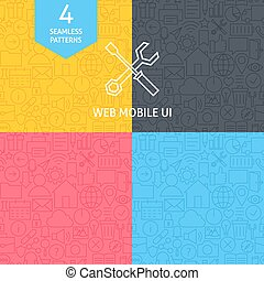 Line Web and User Interface Design Icons Big Set. Vector Set...