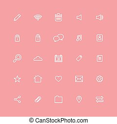 Line Website Vector Icons Set.