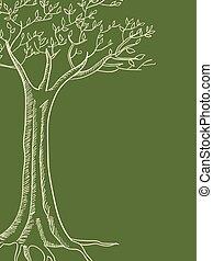 linea albero, arte, illustrazione