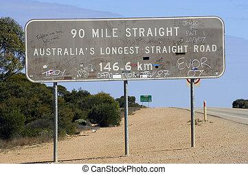 linea, australia, destra, più lungo