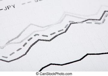 linea, carta, economia