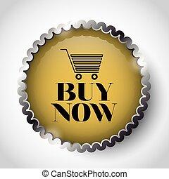 linea, comprare, bottone, disegno