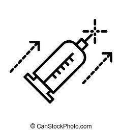 linea, cosmetologia, siringa, iniezione, isolato, medicina,...