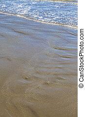 linea costiera, riva, sabbia spiaggia, prospettiva