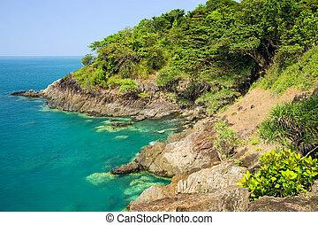 linea costiera, scenario, in, tailandia