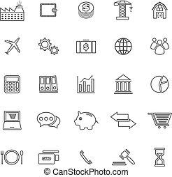 linea, economia, sfondo bianco, icone
