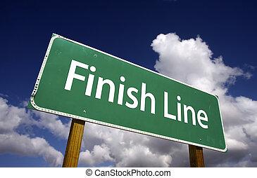 linea, fine, segno strada