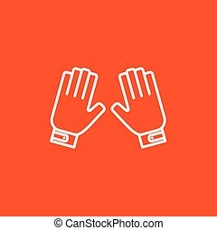 linea, guanti, motocicletta, icon.