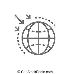 linea, icon., distruzione, strato ozono