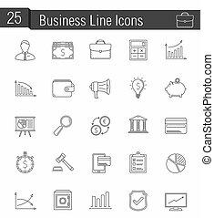 linea, icone affari