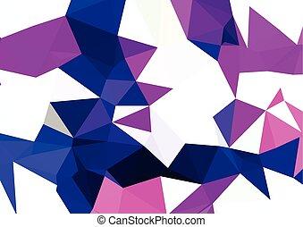linea, luce, polygonal, mosaico, fondo, vettore, illustrazione, affari, disegnare sagome