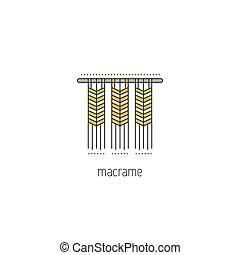 linea, macrame, icona
