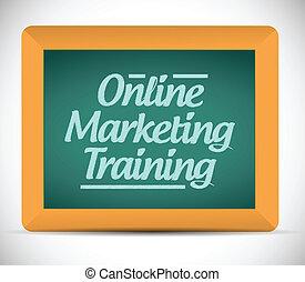 linea, marketing, addestramento, messaggio