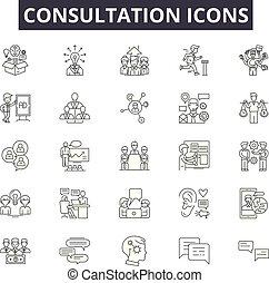 linea, mobile, signs., web, contorno, consultazione, colpo, ...