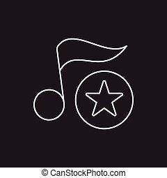 linea, musica, icona