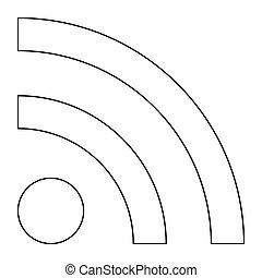 linea, nero, icona, notizie, segno, colorare