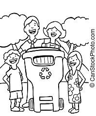 linea, riciclaggio, arte, famiglia