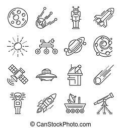 linea, set, spazio, icona