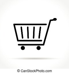 linea, shopping, magro, icona