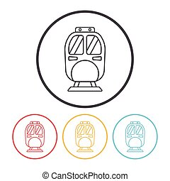 linea, treno, icona