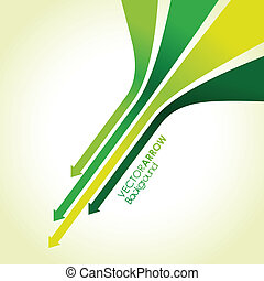 linea, verde, freccia, fondo