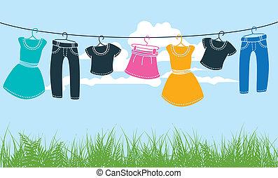 linea, vestiti lavano