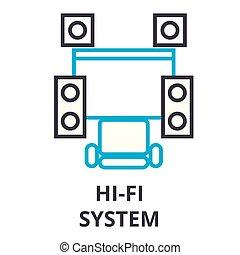 lineair, meldingsbord, systeem, symbool, concept, vector,...