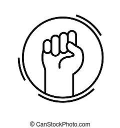 lineal, concepto, contorno, icono, símbolo., señal,...