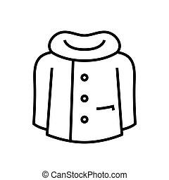 lineal, vector, símbolo., línea, icono, ilustración, contorno, abrigoligero, señal, concepto