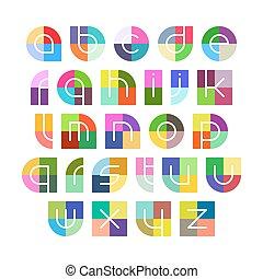 Linear alphabet letters