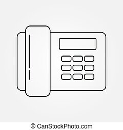 Linear button phone icon for logo, design and decoration of websites and applications