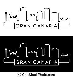 linear, canaria, skyline., gran, style.