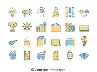 Linear COLOR icon set 2 - BUSINESS