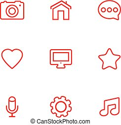 Linear communication icons set. Universal communication icons to use in web and mobile