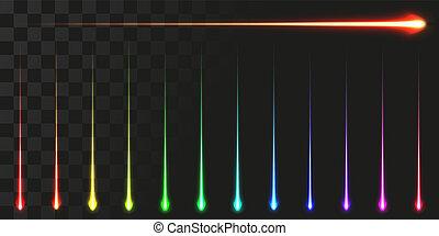 linear energy beam set. vector illustration of high speed...