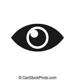 Linear eye symbol, vision icon on a white background