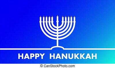 Linear hanukkah poster, art video illustration.