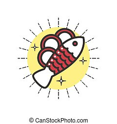 Linear Icon Baked Fish