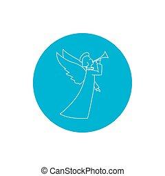 Linear Icon Christmas Angel