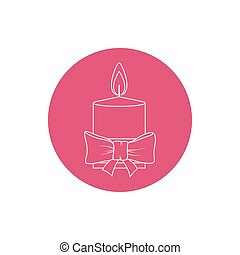 Linear Icon Christmas Festive Candle